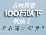 首付只要100万以下的房子,都在深圳哪里?